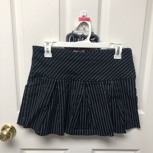 Black & White Pinstripe Mini Skirt